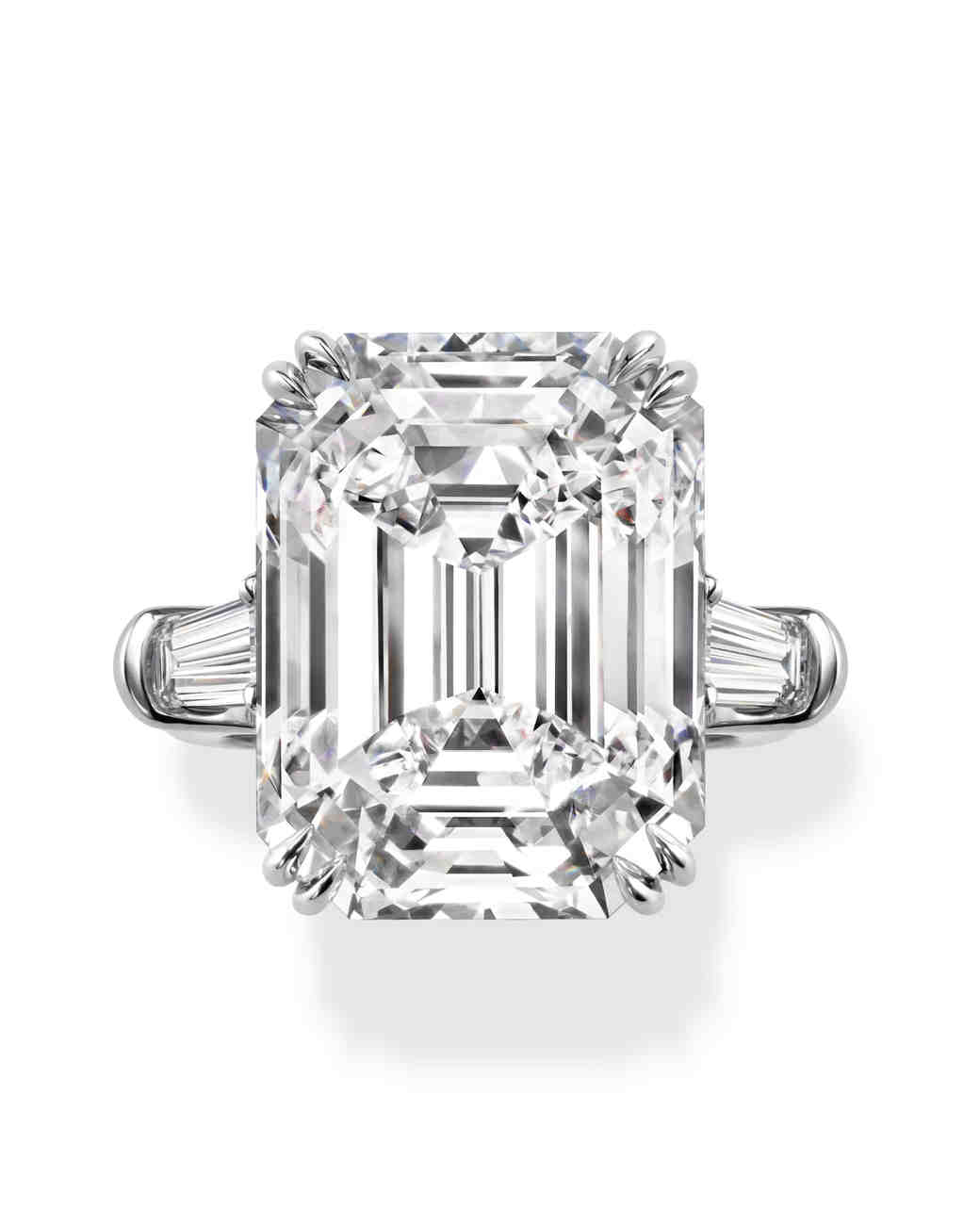 Elegant Emerald-Cut Engagement Rings | Martha Stewart Weddings