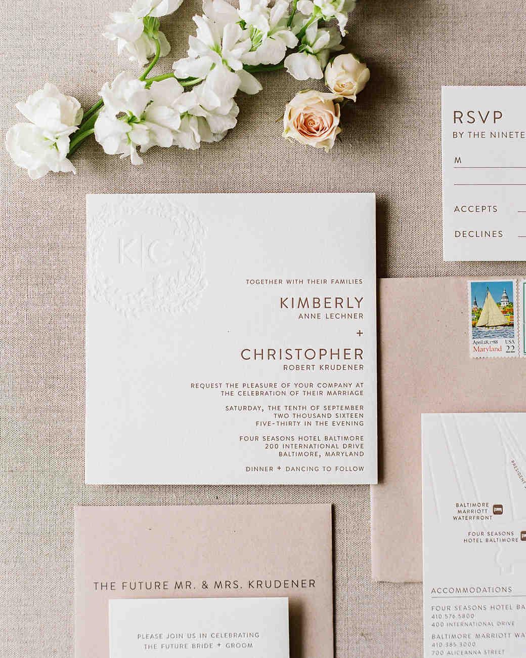Paper Protocol: Experts Share Their Best Wedding Invitation Advice | Martha  Stewart Weddings