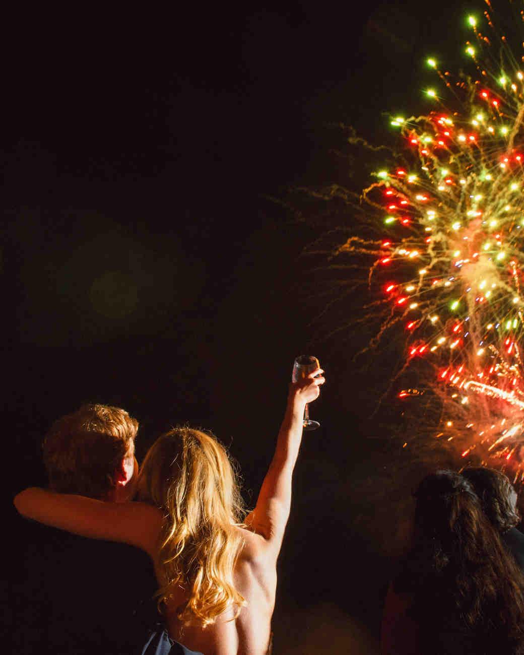 katy andrew wedding fireworks