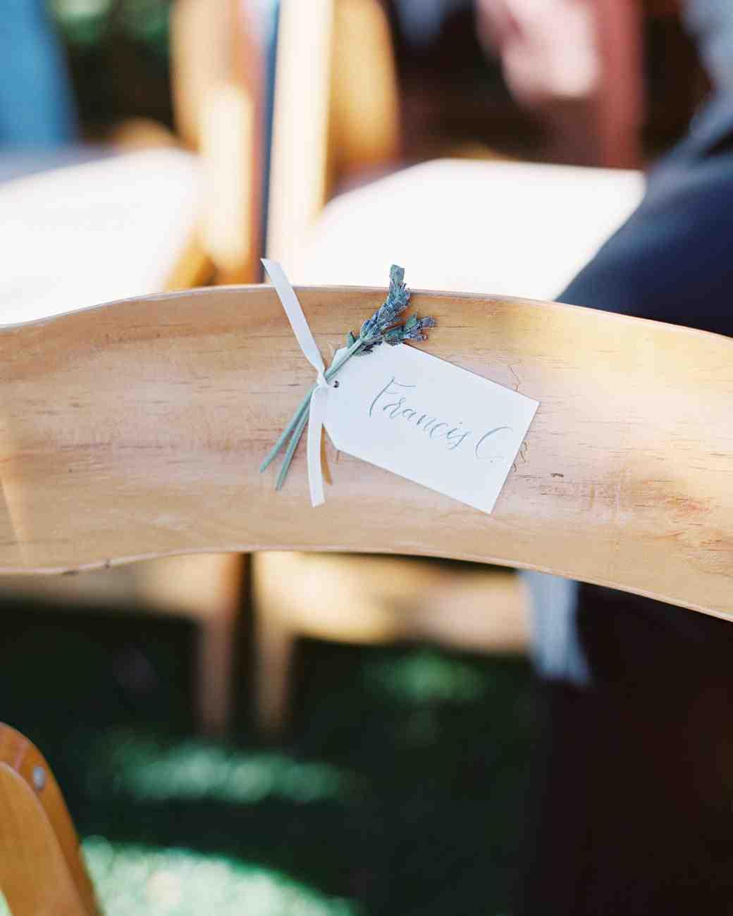 lavender seating label