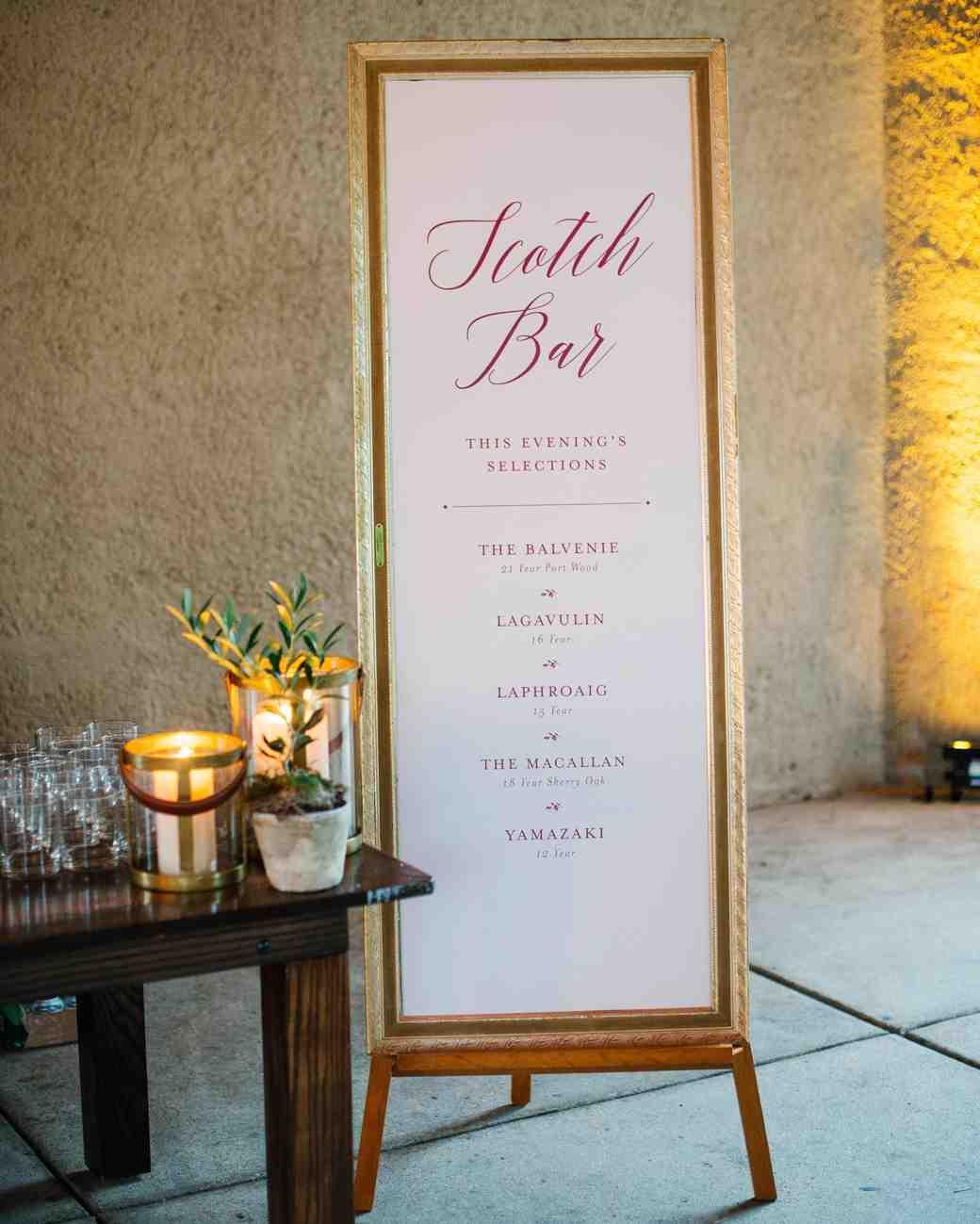 wedding scotch bar