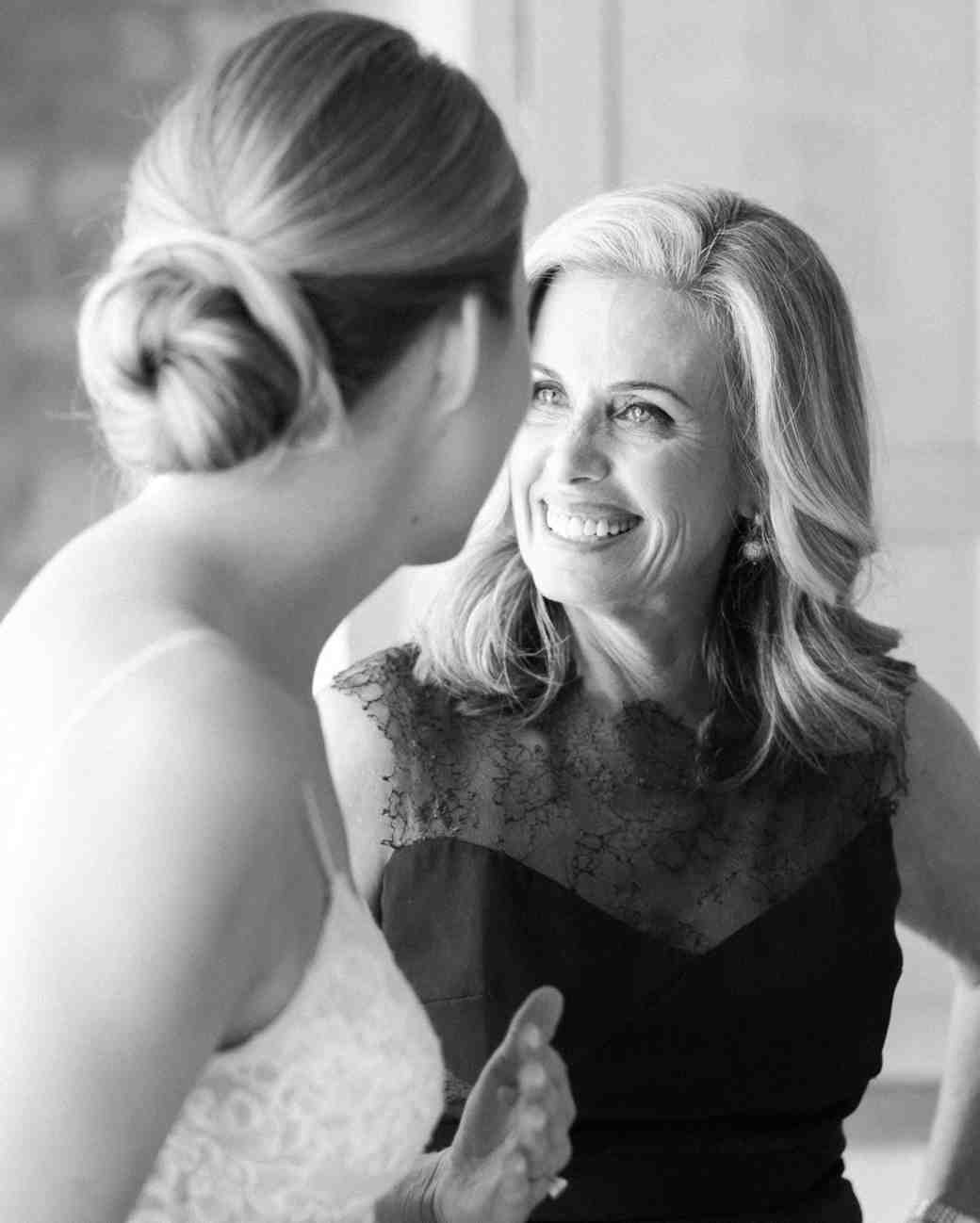A Bride Laughing with Her Mother