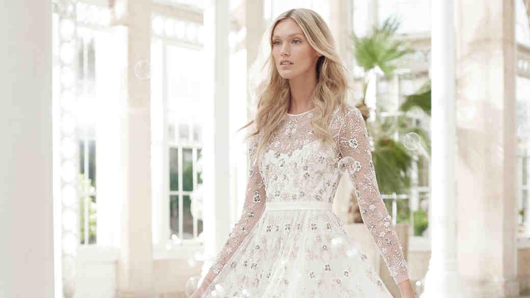 needle and thread wedding dress spring2017 sleeves