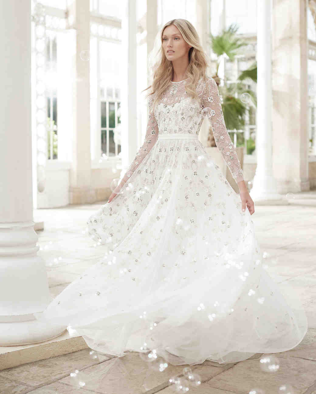 needle and thread wedding dress spring2017 sleeves