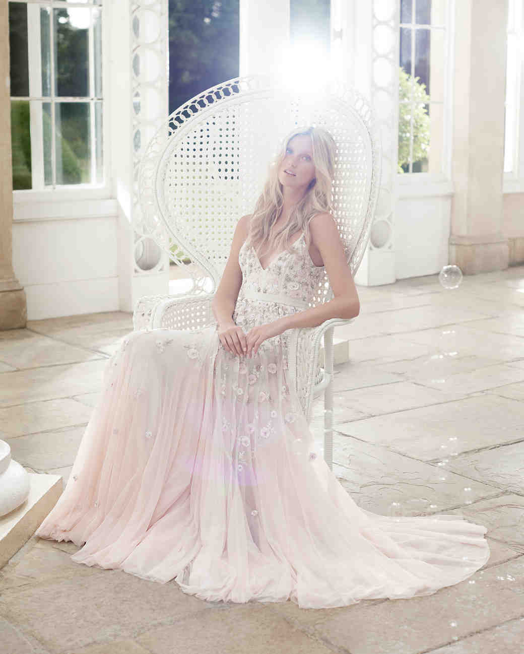 needle and thread wedding dress spring2017 blush