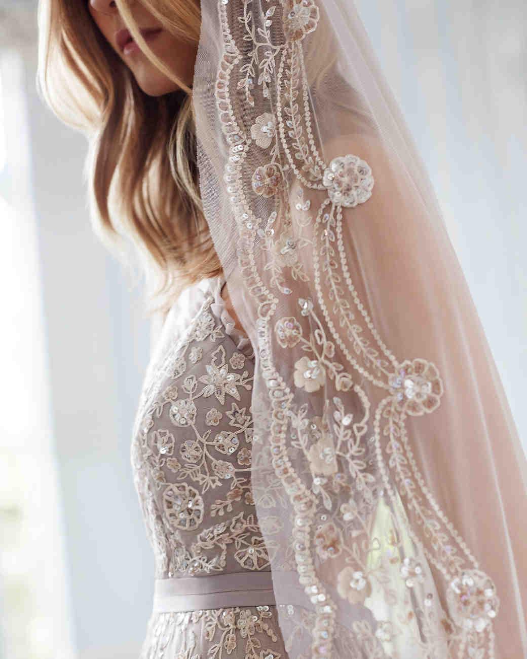 needle and thread wedding dresses fall 2017 beaded veil detail