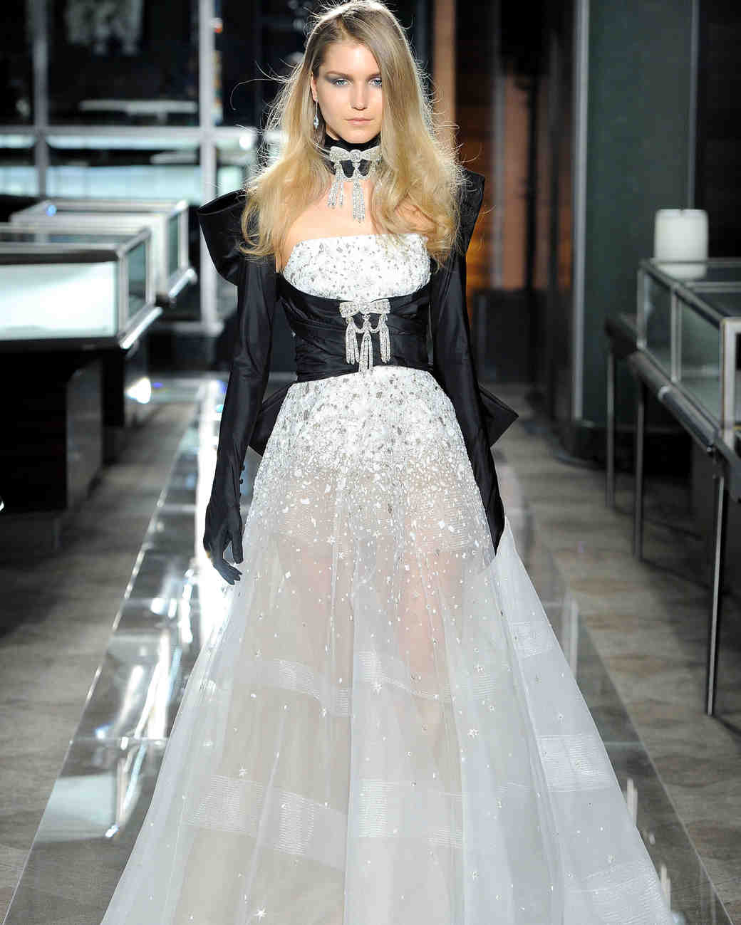 reem acra spring 2018 wedding dress with black bustier
