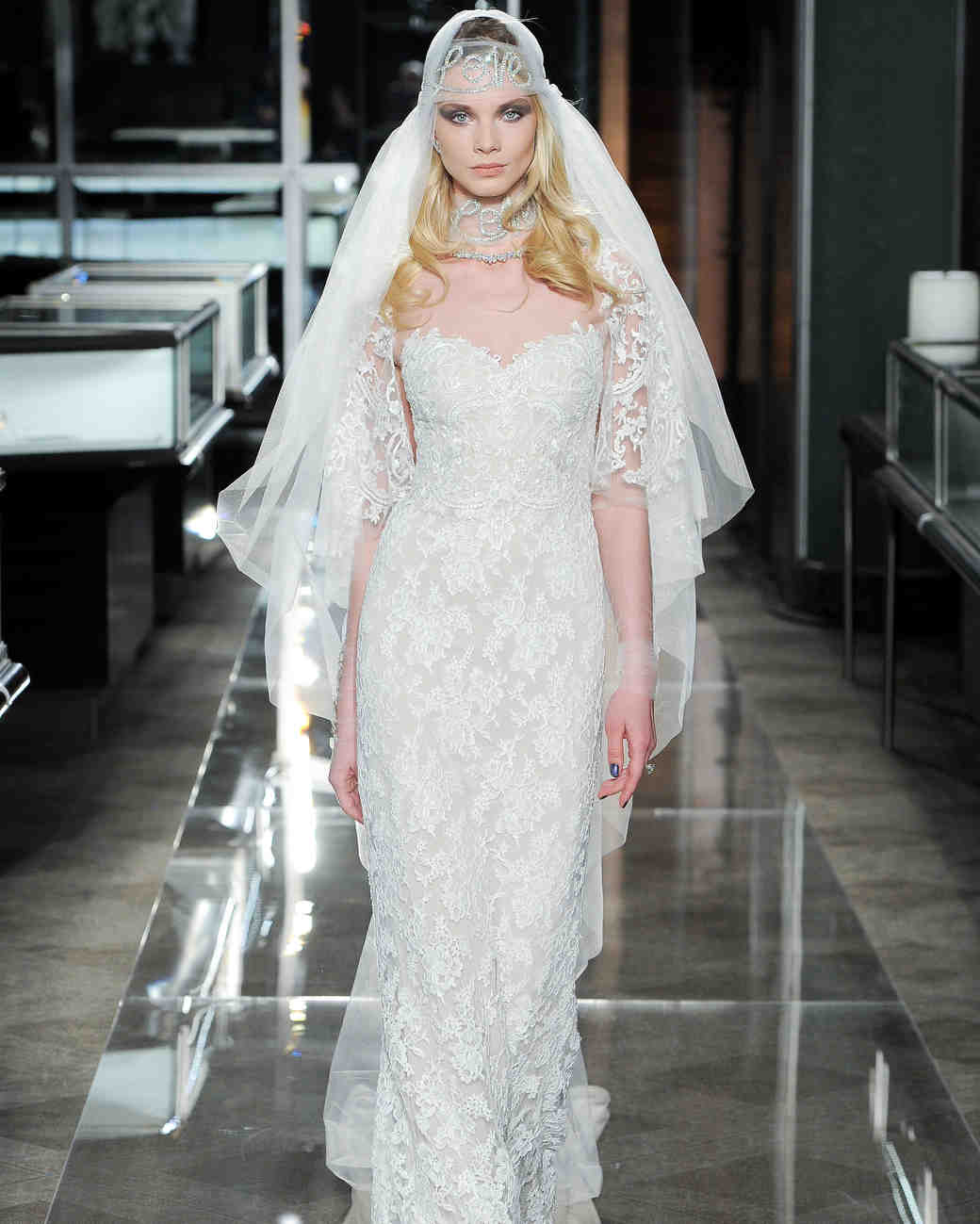 reem acra spring 2018 strapless lace wedding dress