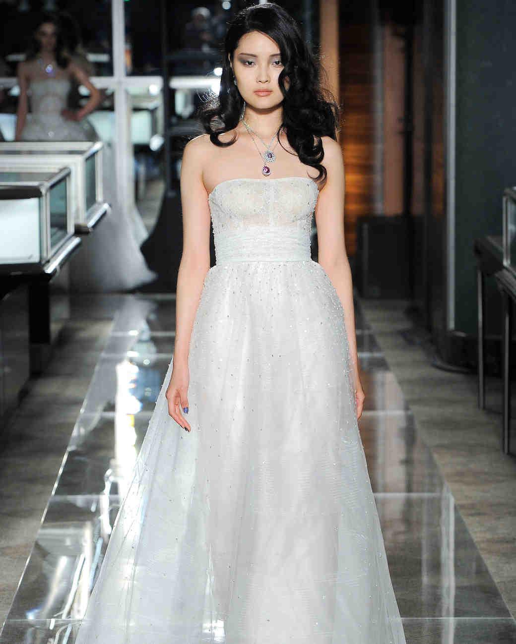 reem acra spring 2018 wedding dress collection strapless