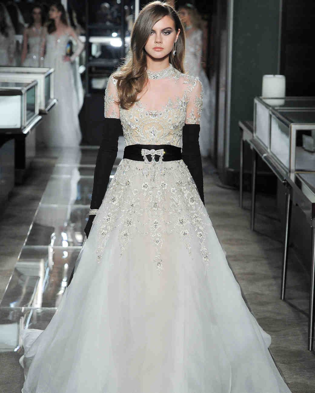 reem acra spring 2018 wedding dress collection lace