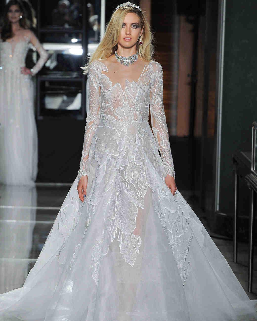 reem acra spring 2018 wedding dress collection long sleeve
