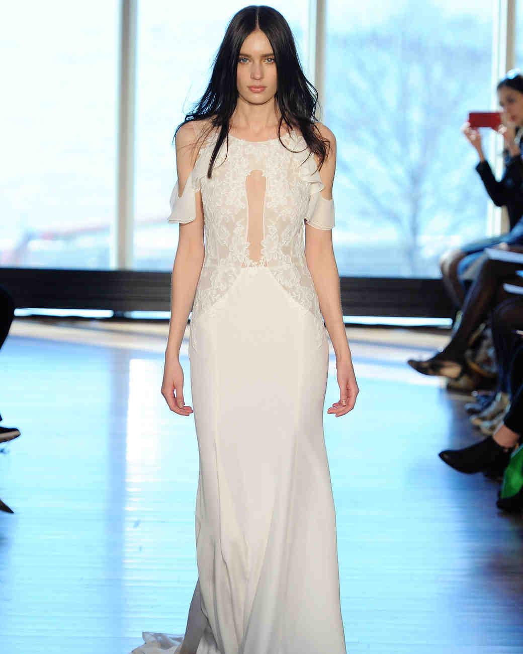 Rivini silk crepe sheath wedding dress