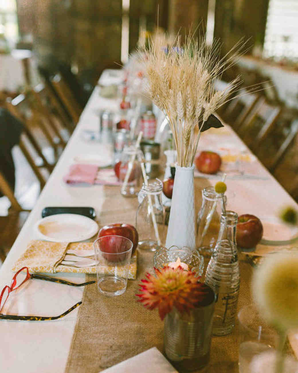 51 rustic fall wedding centerpieces martha stewart weddings. Black Bedroom Furniture Sets. Home Design Ideas