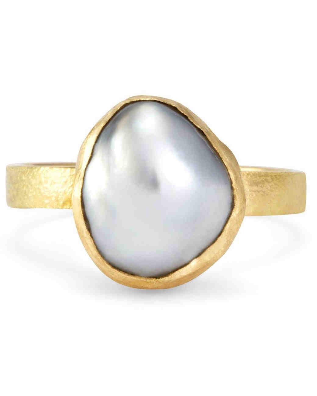 Satomi Kawakita Pearl Engagement Ring