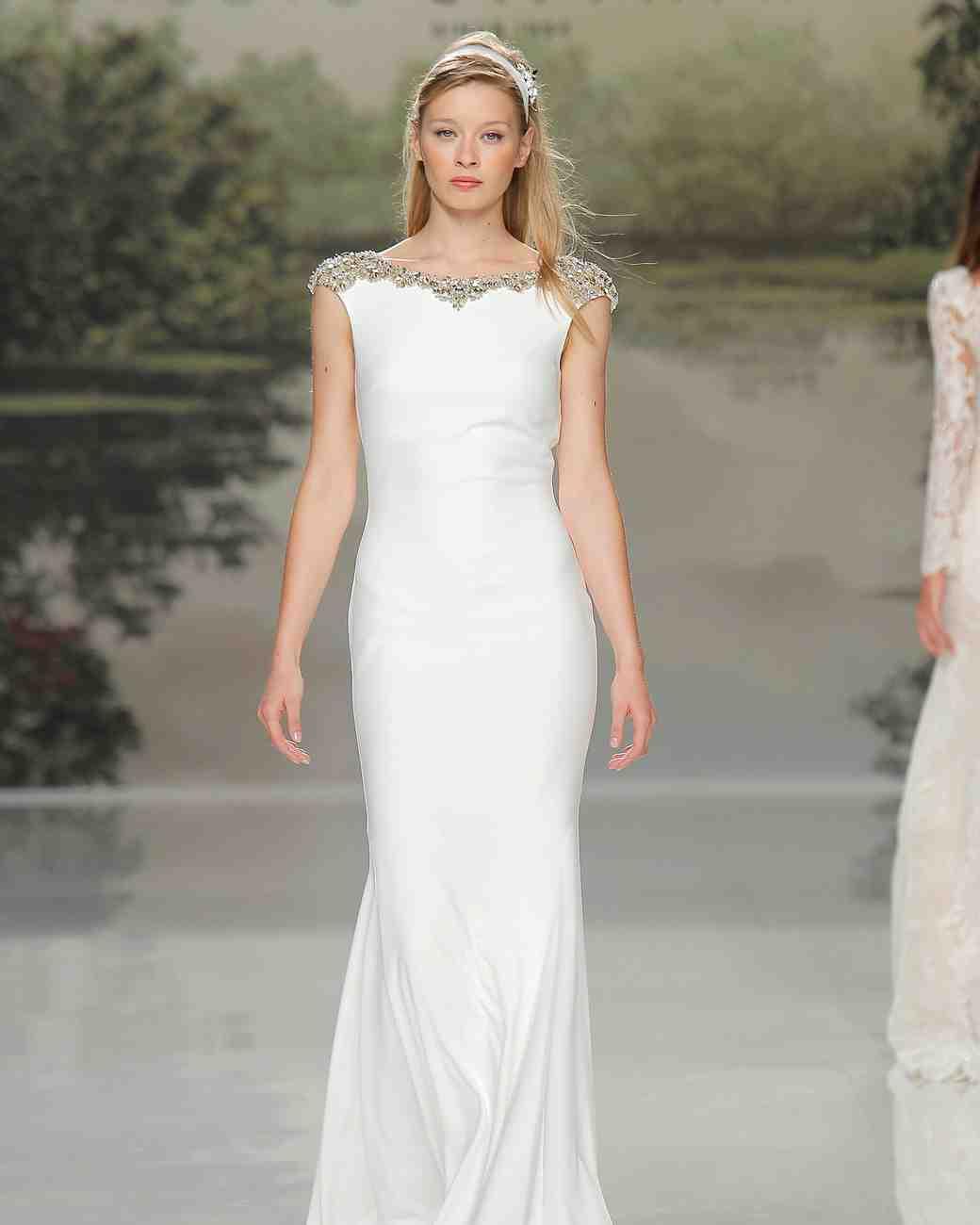 st patrick high neckline spring 2018 wedding gown