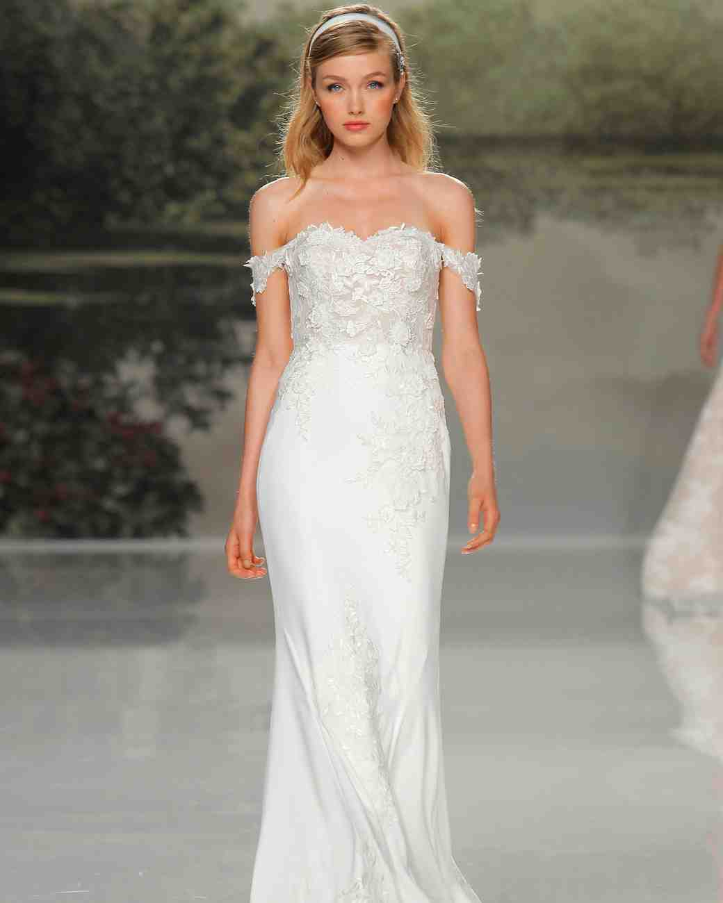 st patrick off the shoulder lace spring 2018 wedding gown