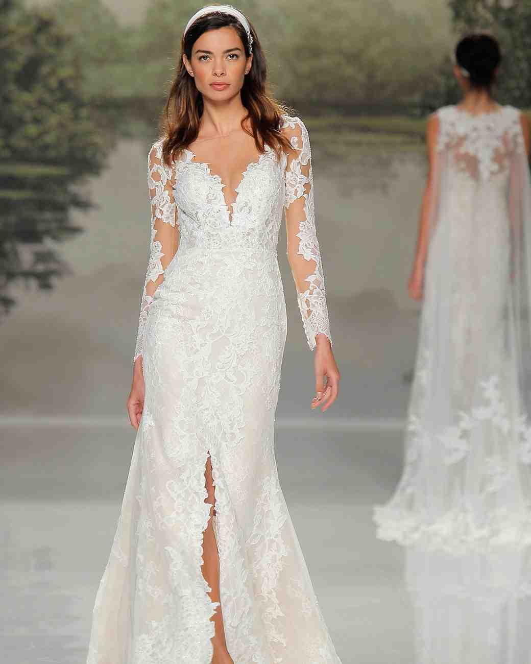 st patrick v-neck long sleeve spring 2018 wedding gown