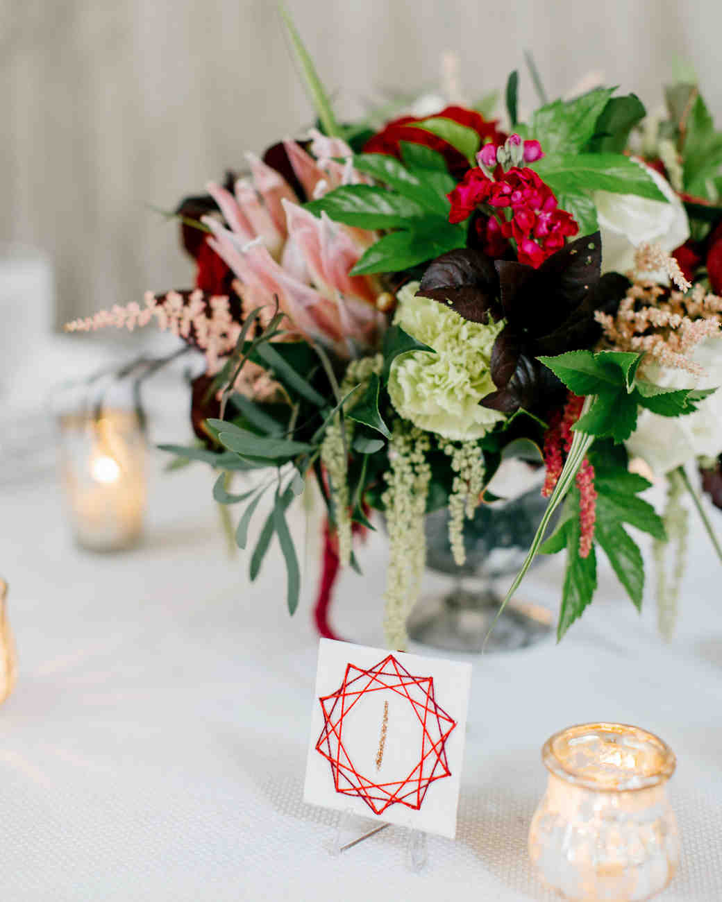 Red Star Wedding Table Numbers