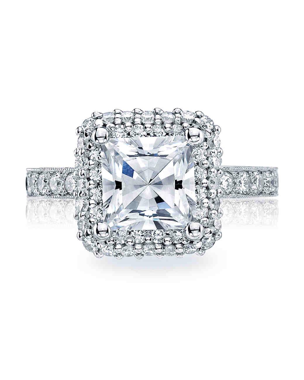 Tacori Princess-Cut Engagement Ring