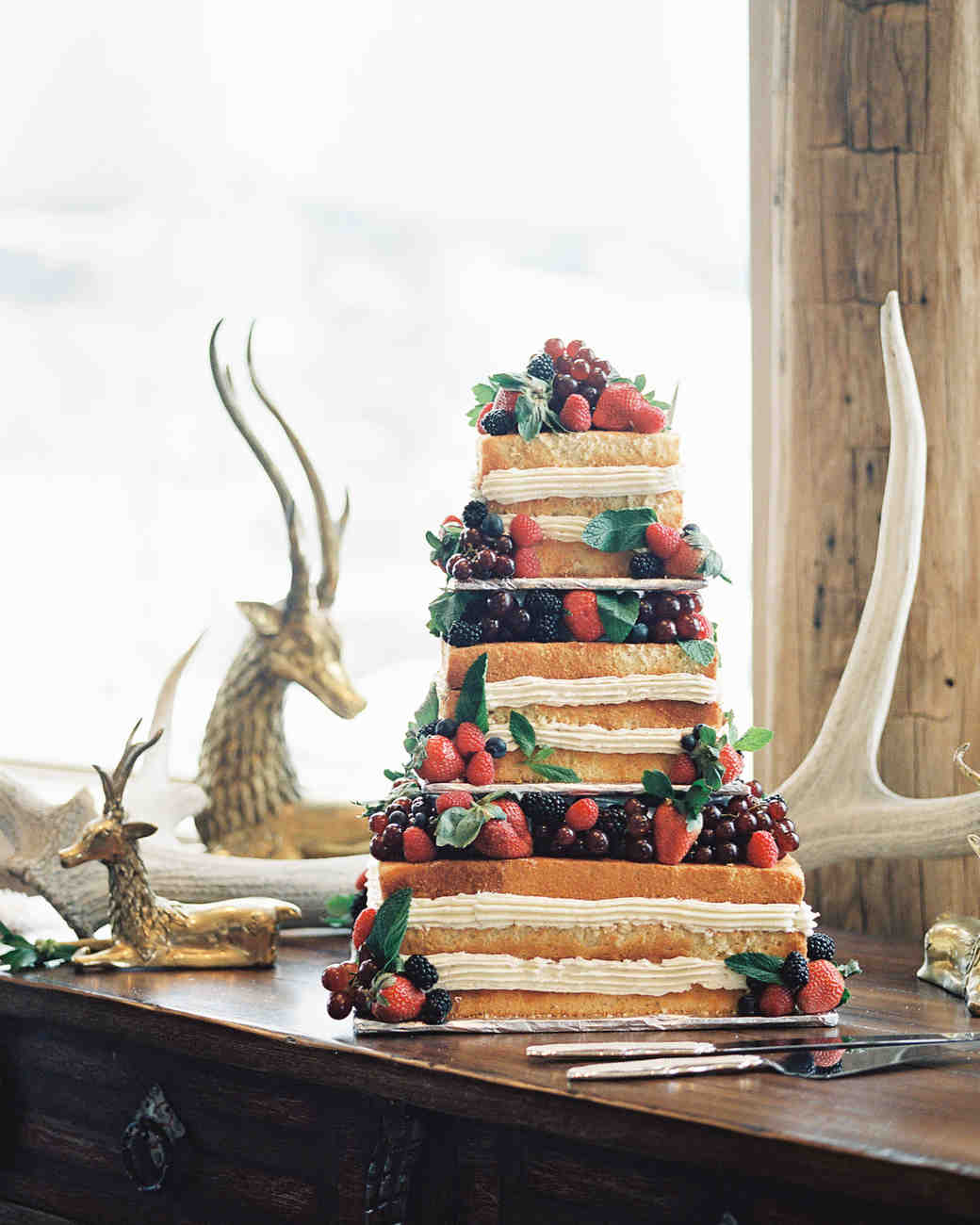 Fruity Faux-Millefoglie Wedding Cake