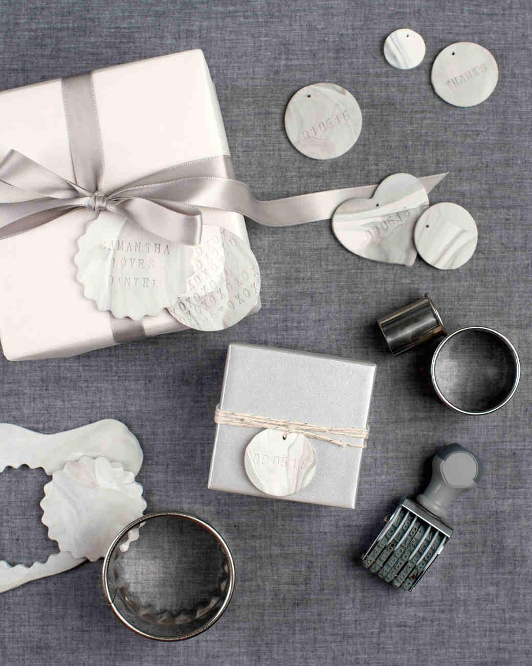 An Easy DIY: Marbleized Clay Gift Tags