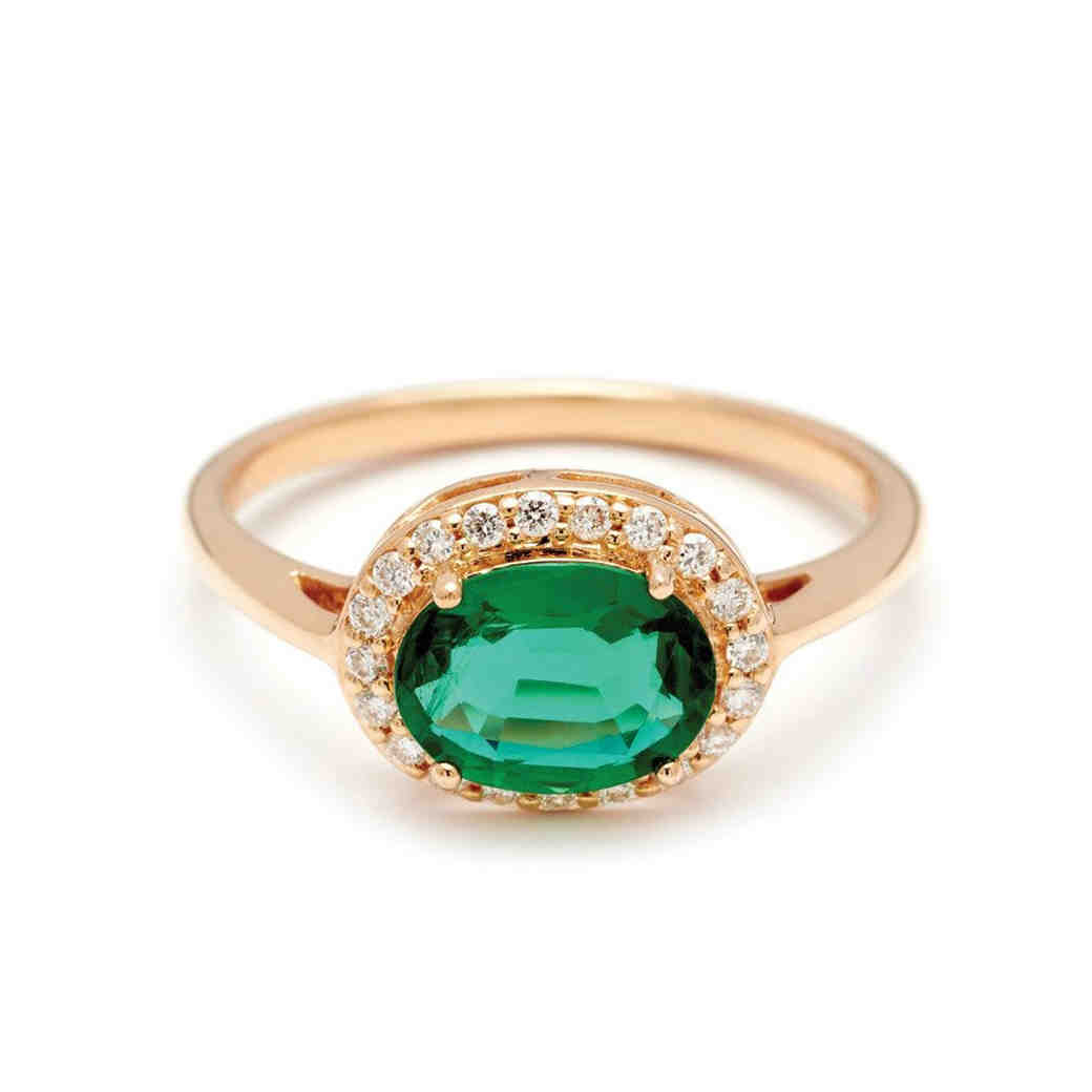 Anna Sheffield Emerald Engagement Ring