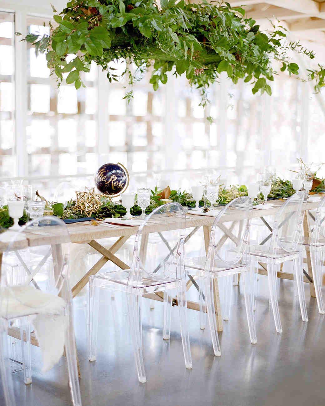 wedding chairs greenery
