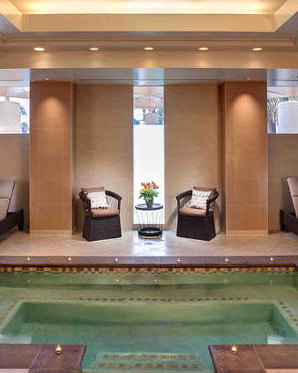 Indoor pool and bachelorette spa retreat