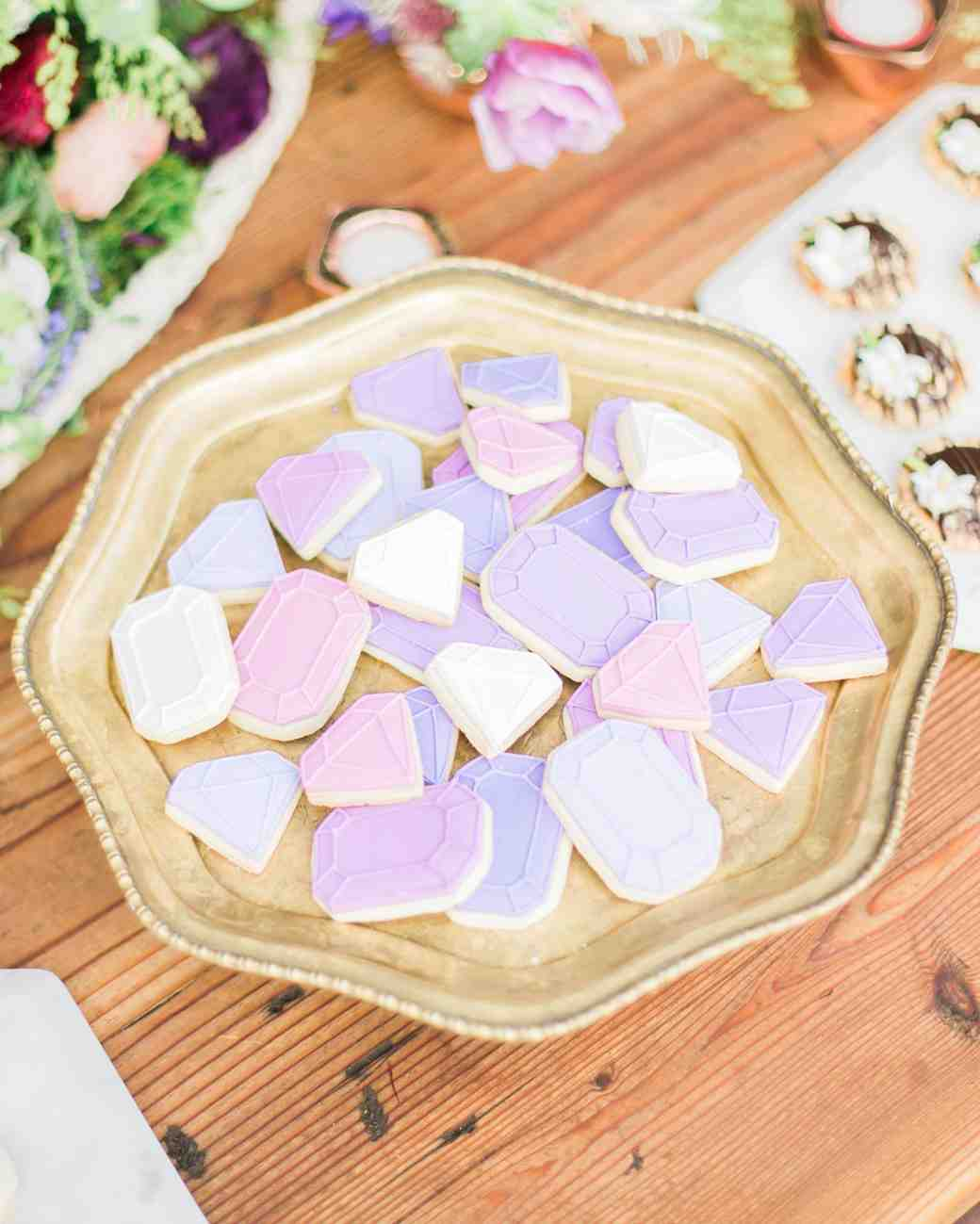 boho chic bachelorette party sugar cookies