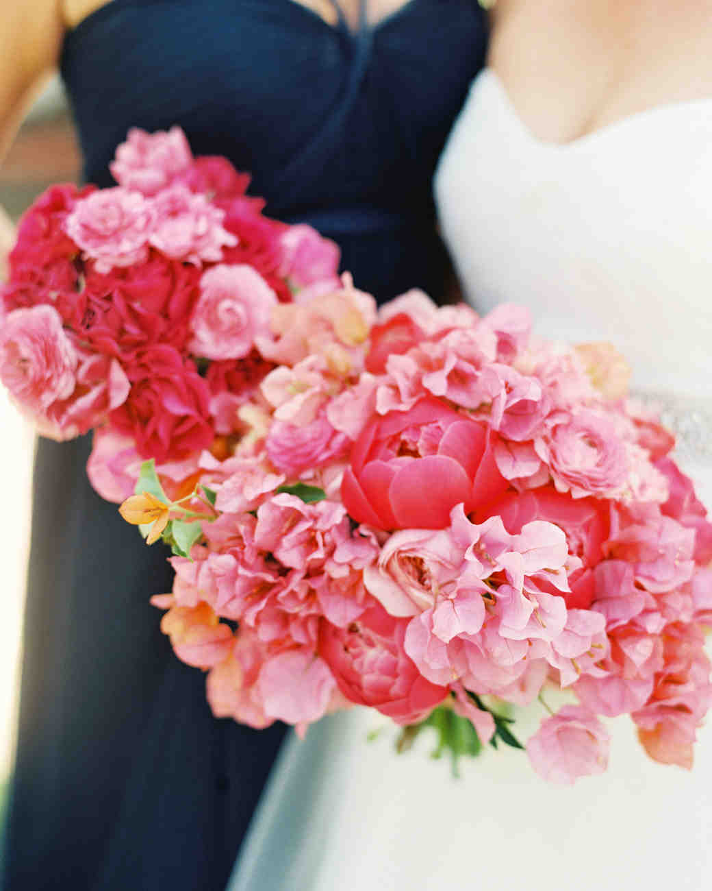 Bridesmaid bouquets tips how to make a bouquet diy wedding flowers bright pink bouquets mightylinksfo