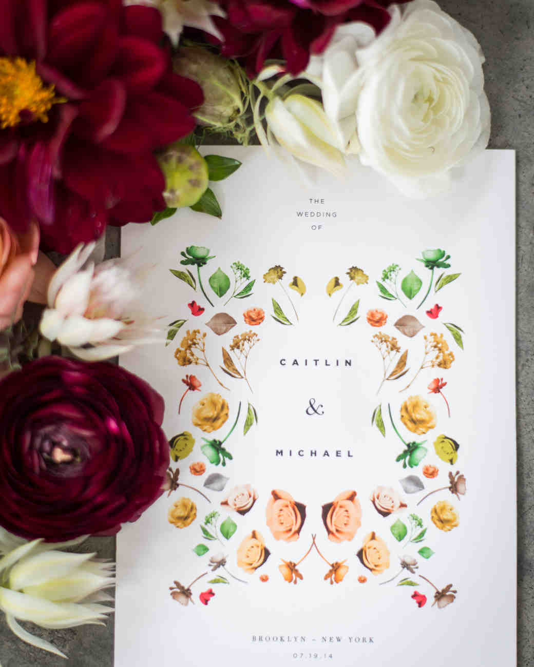 Gorgeous Floral Wedding Invitations Martha Stewart Weddings ...