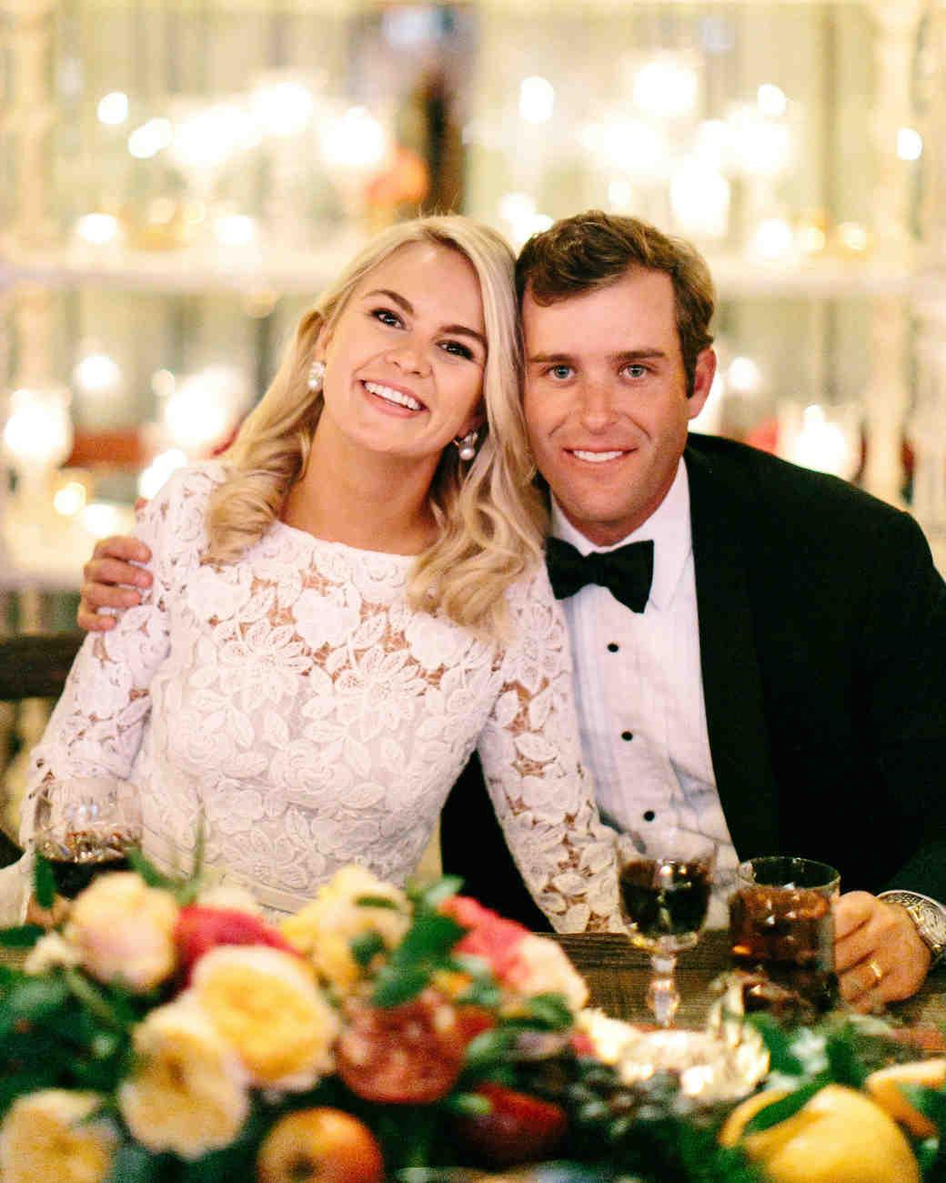 wedding reception couple portrait