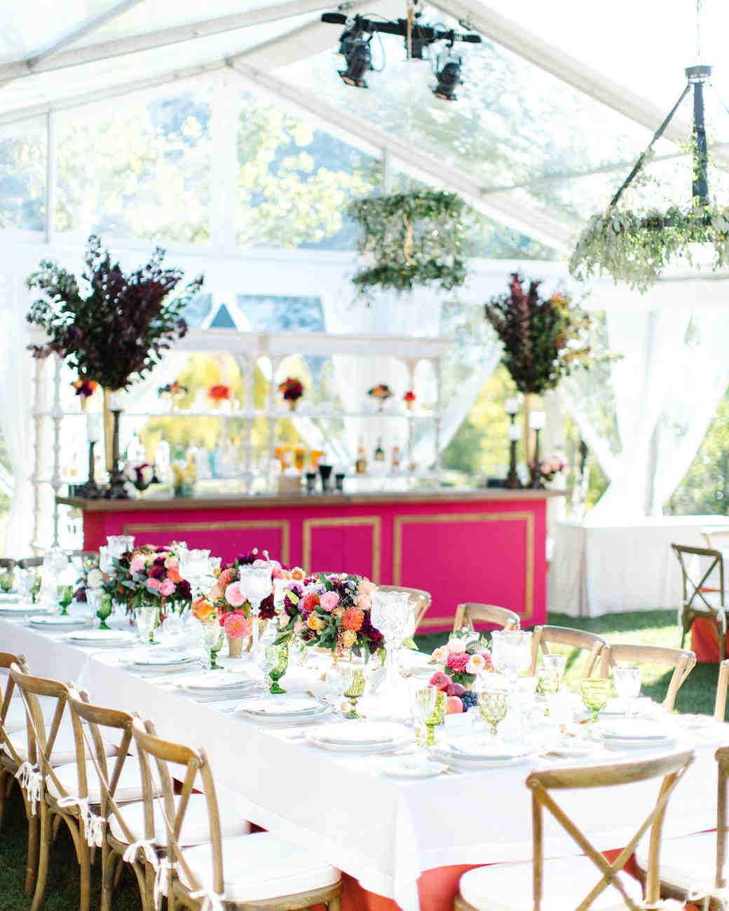 wedding reception table tent