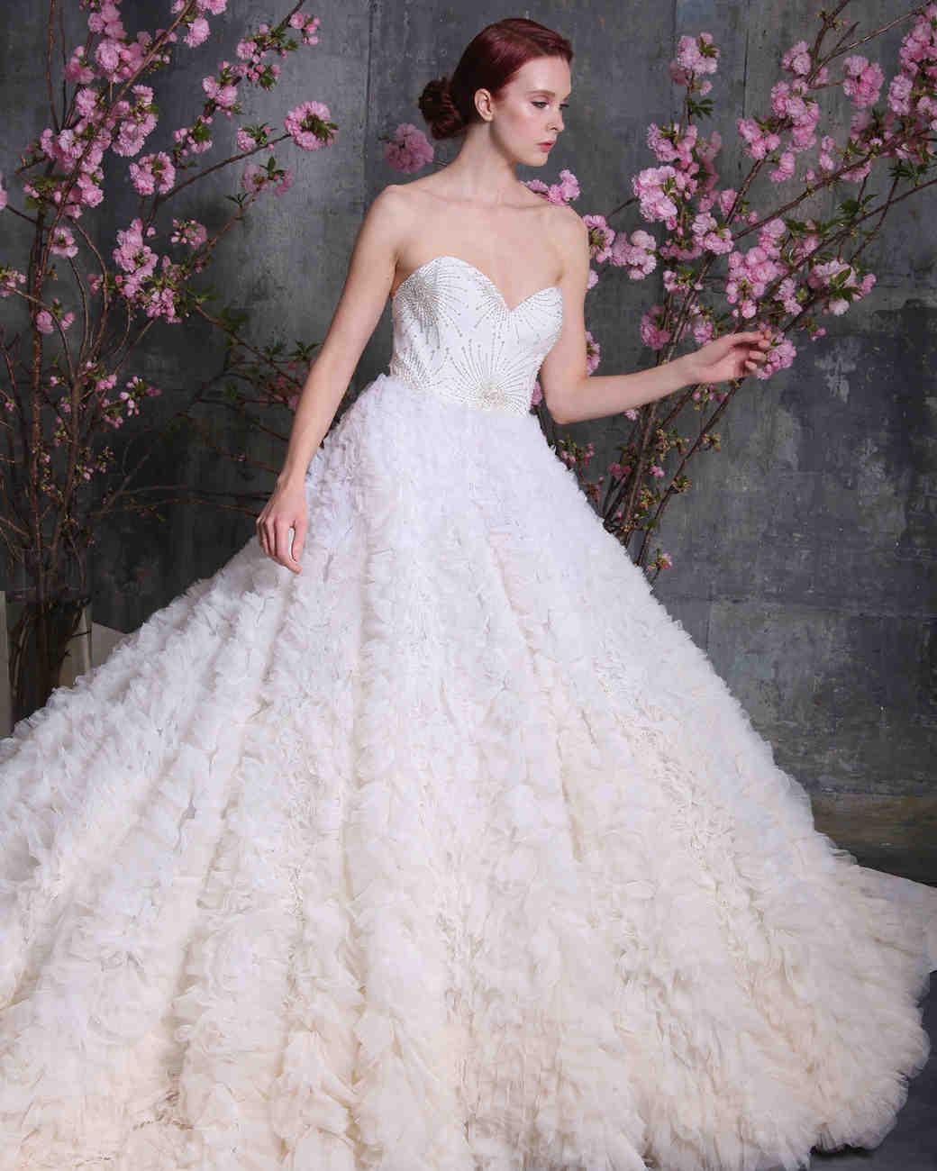 christian siriano dress spring 2018 sweetheart ruffles