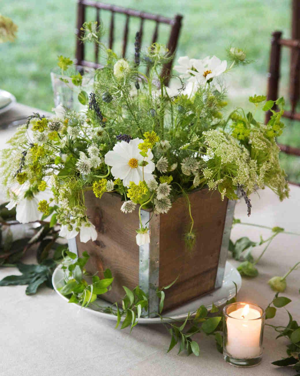 emily sam wedding centerpiece flowers