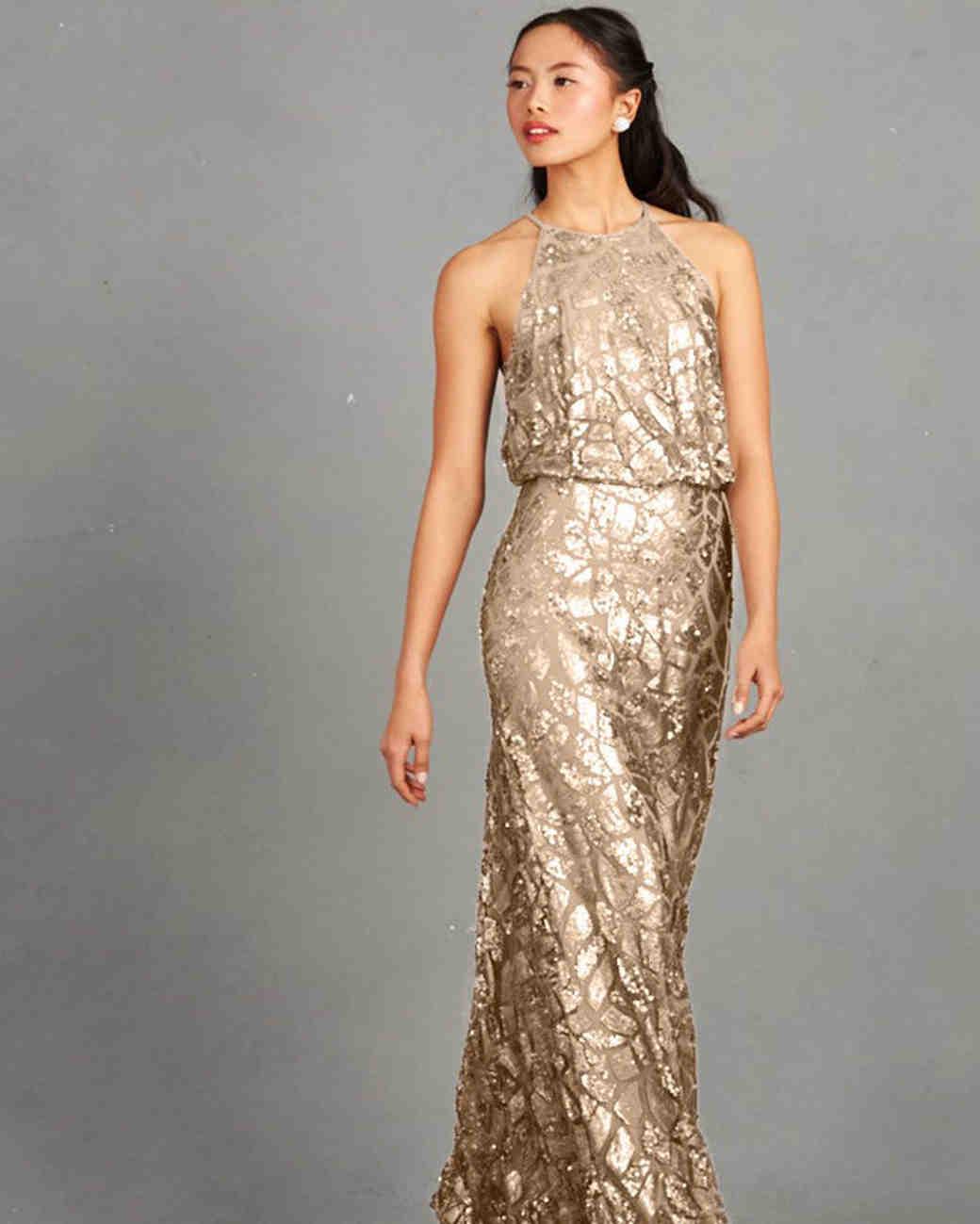 Bridesmaid dresses gold vosoi gold bridesmaid dresses martha stewart weddings ombrellifo Images