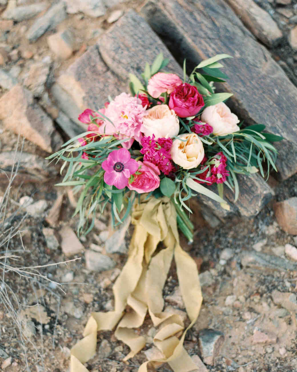 Fuchsia and White Wedding Bouquet