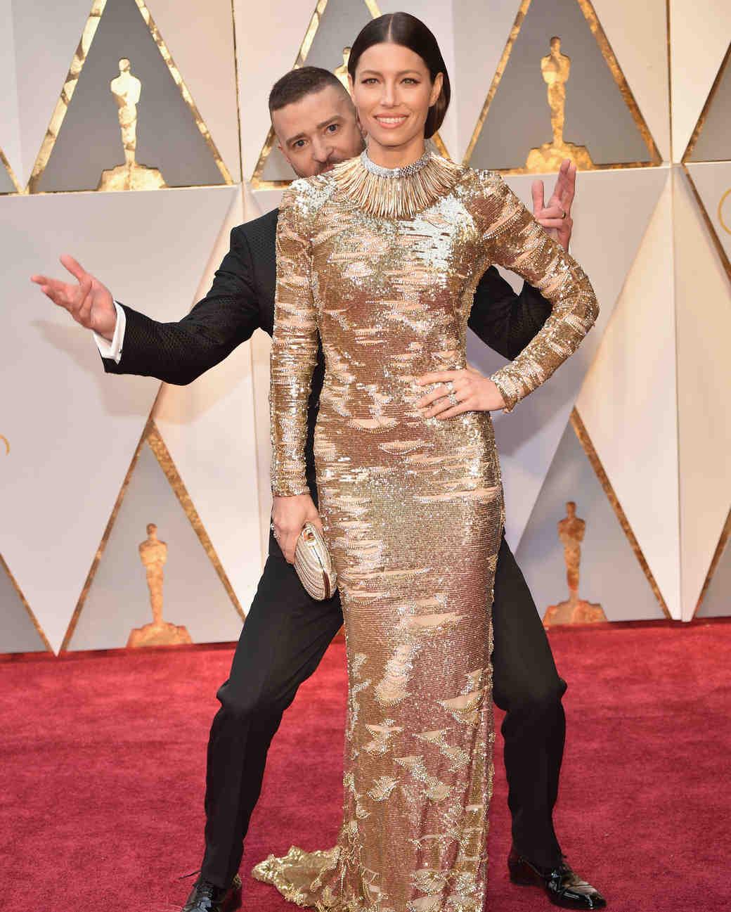 Justin Timberlake and Jessica Biel at 2017 Academy Awards