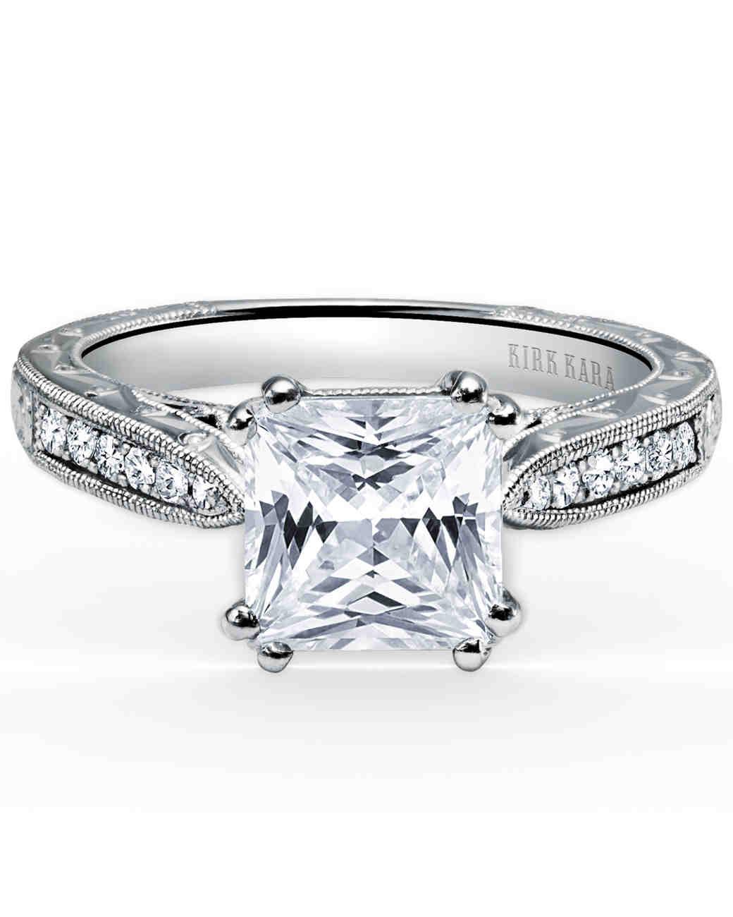 Kirk Kara Princess-Cut Engagement Ring