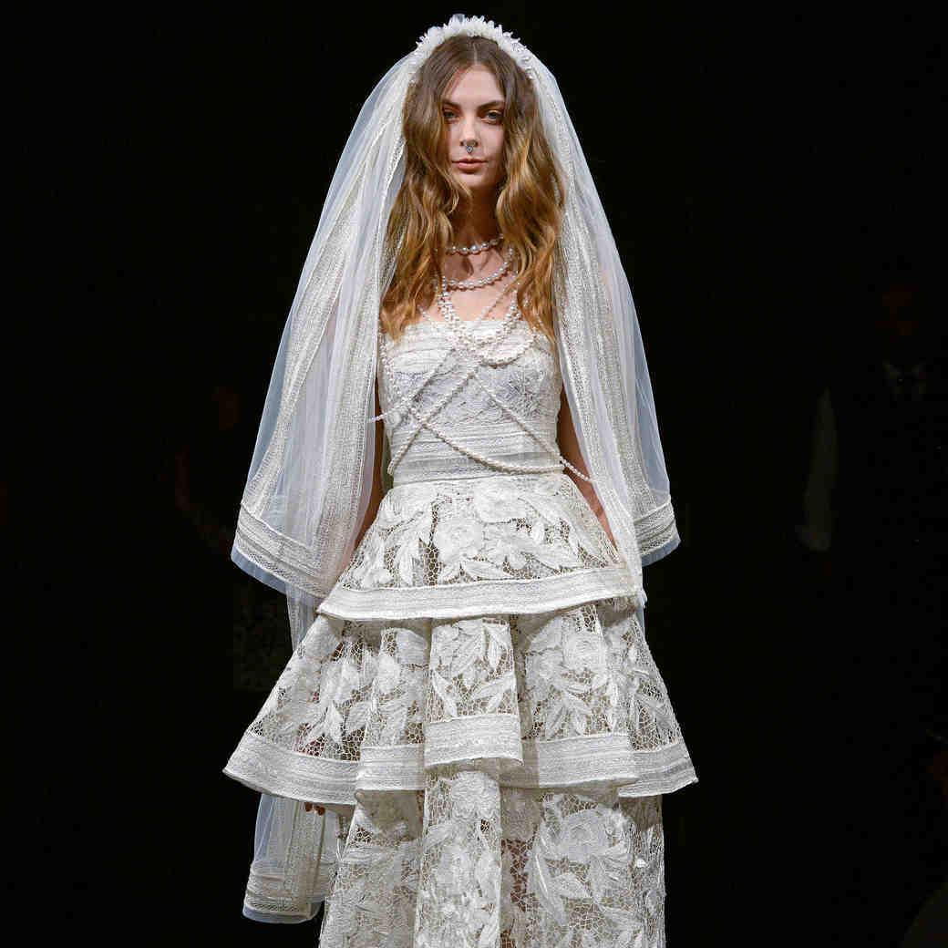 naeem khan wedding dress veil spring 2018