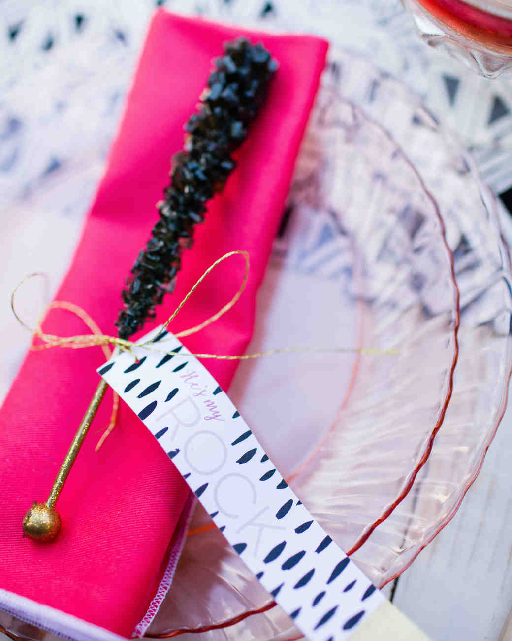 Rock Candy Wedding Place Setting