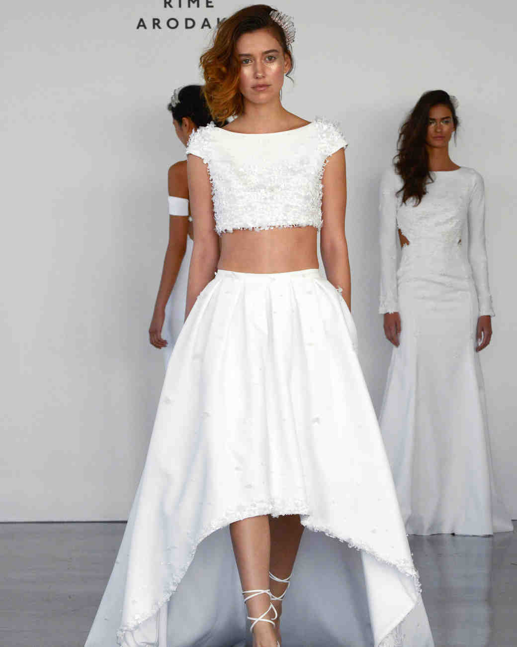 28 two piece wedding dresses martha stewart weddings. Black Bedroom Furniture Sets. Home Design Ideas