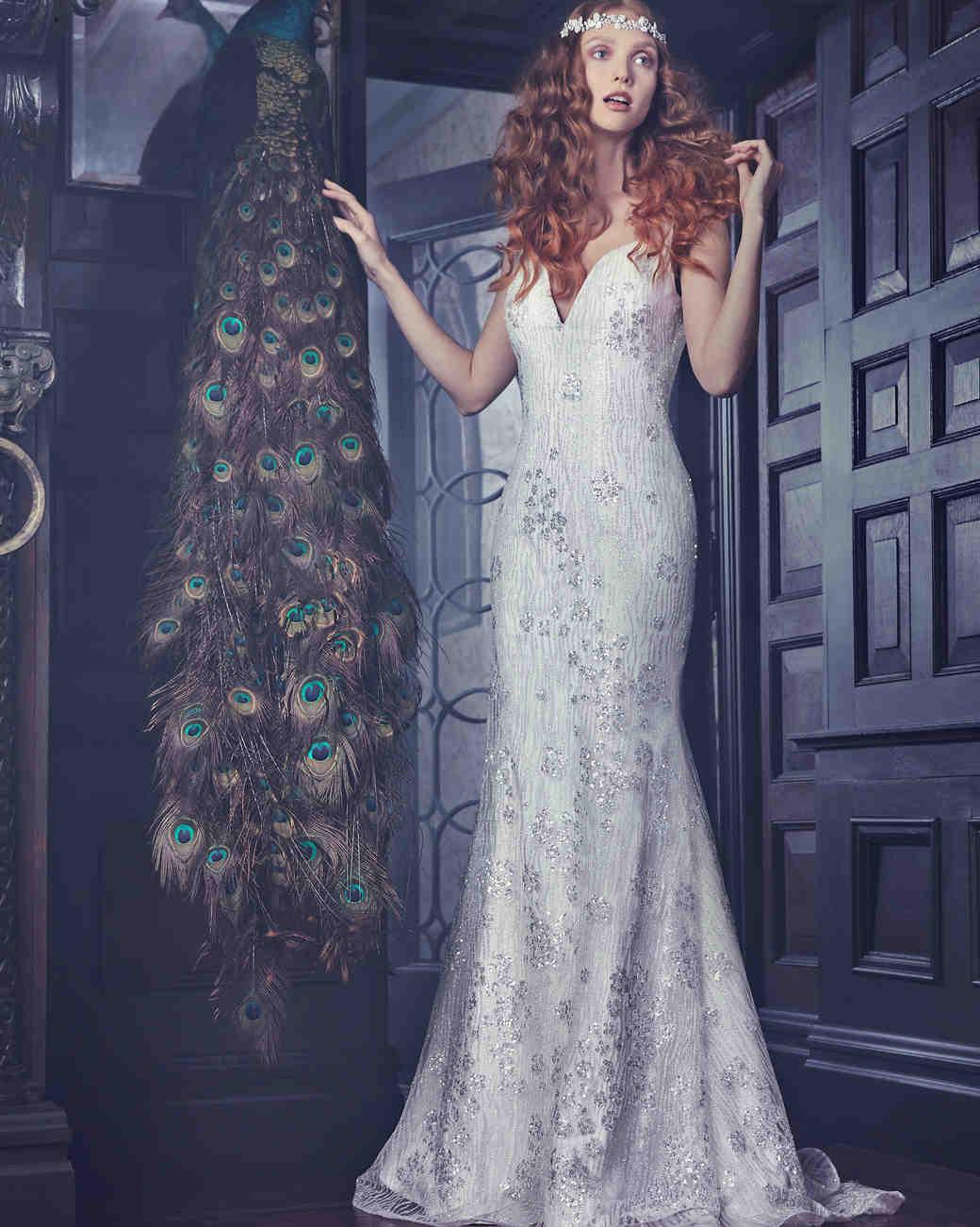 Sparkly Sareh Nouri Mermaid Wedding Dress Spring 2018