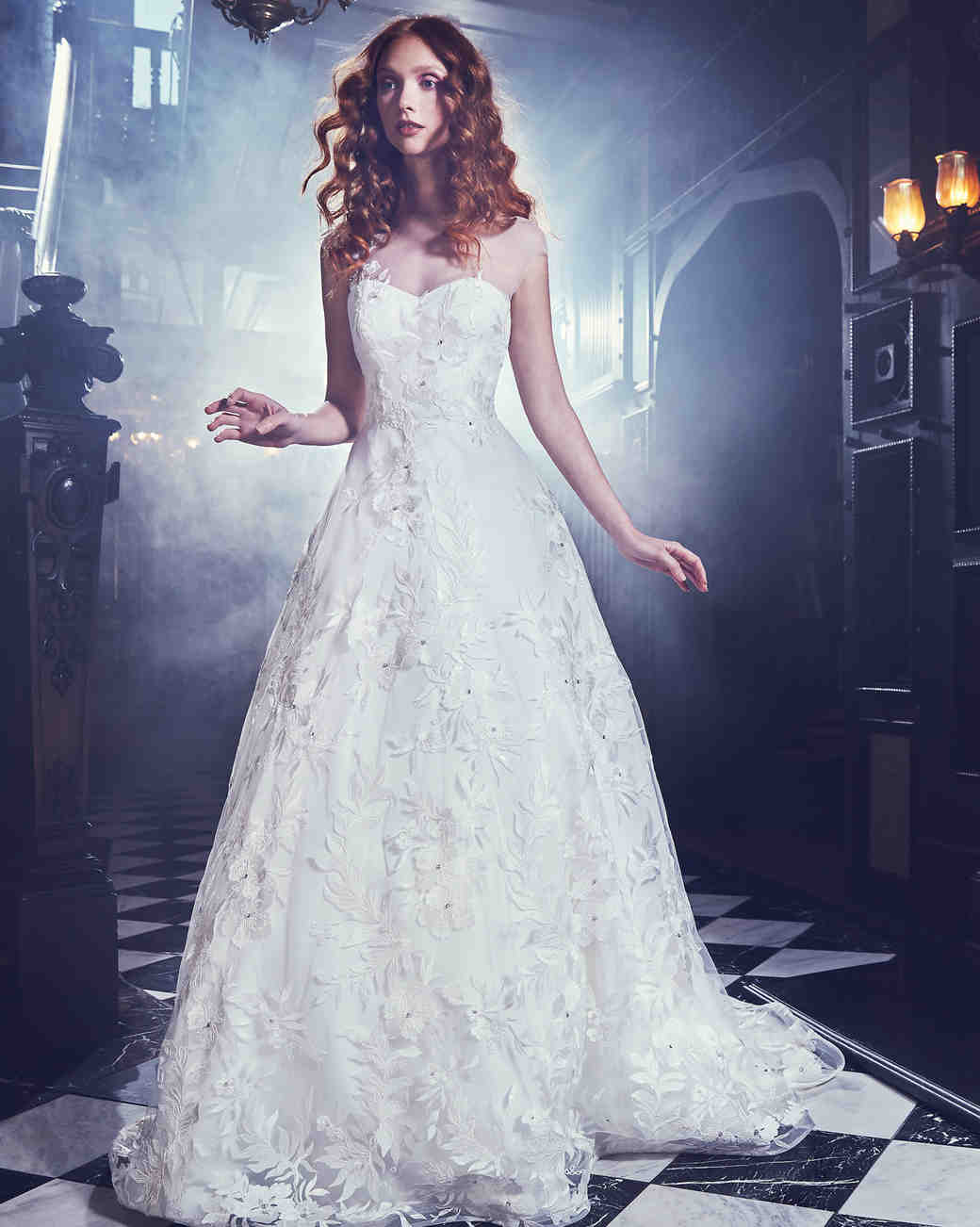 Sareh Nouri Ball Gown Wedding Dress with Sweetheart Neckline Spring 2018