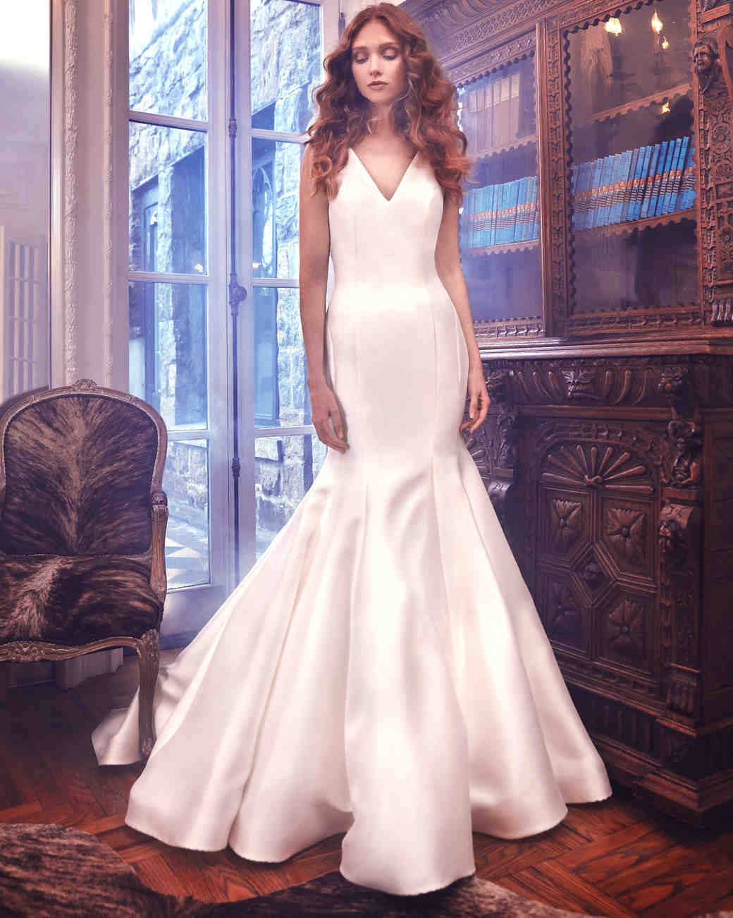 Sareh Nouri Mermaid Wedding Dress with V-Neck Spring 2018