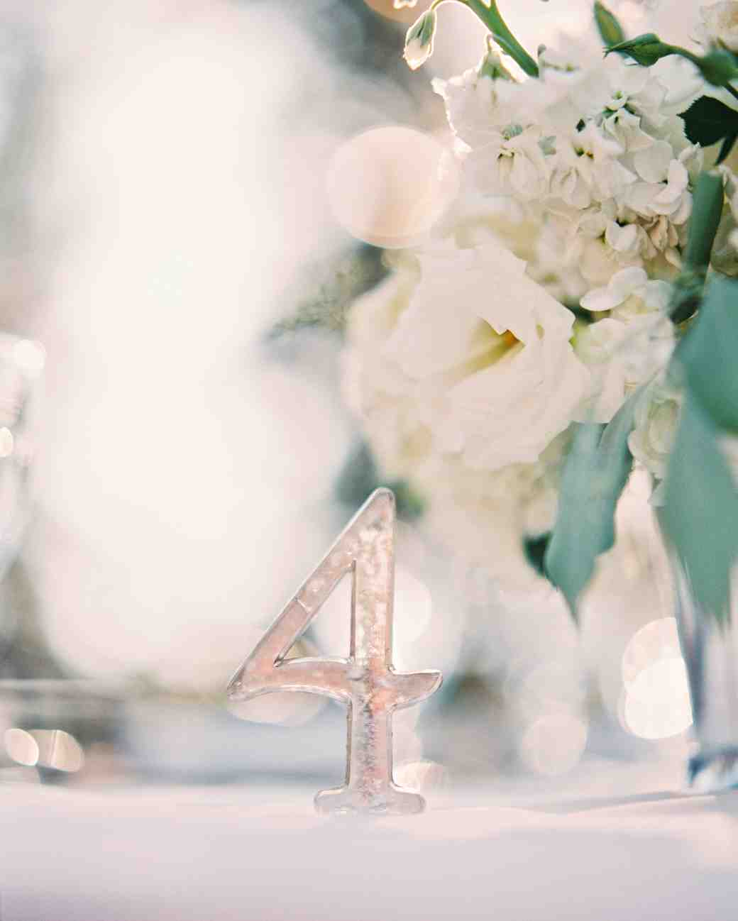 Silver Wedding Table Number