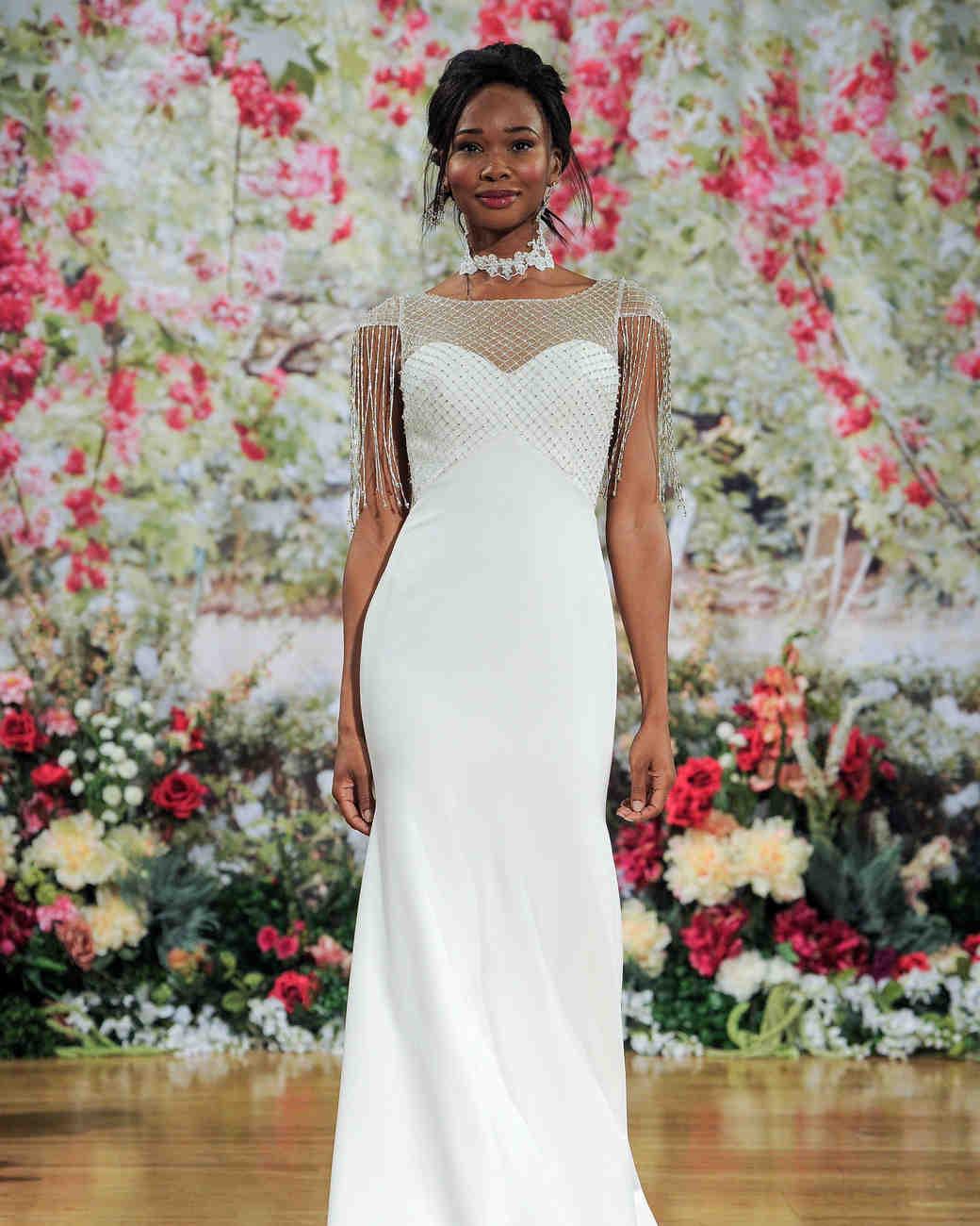 Sottero and Midgley Fall 2017 Wedding Dress with Fringe Sleeves