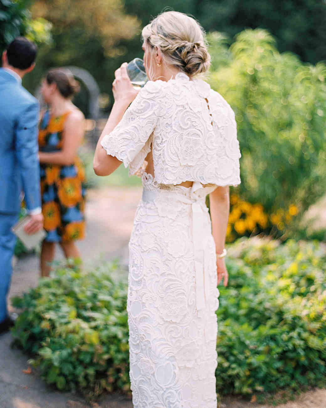 bride wearing separates