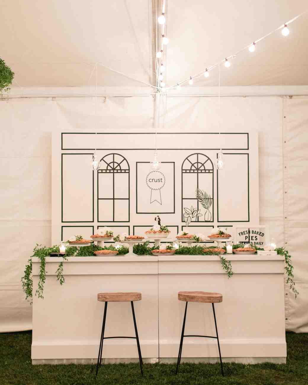 wedding pies table