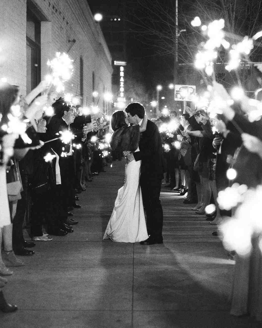 afton travers wedding sparklers